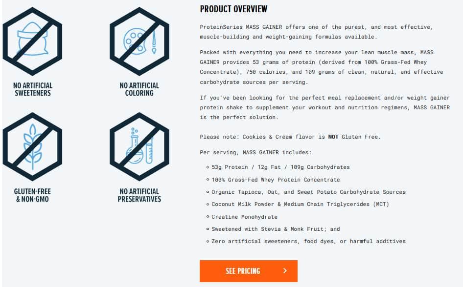 Transparent Labs Mass Gainer Discount