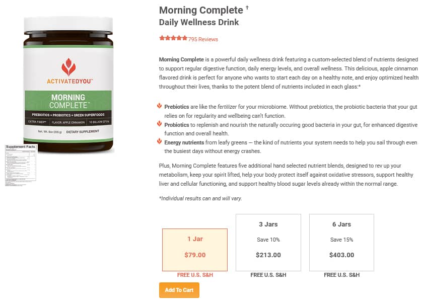 ActivatedYou Morning Complete Pricing