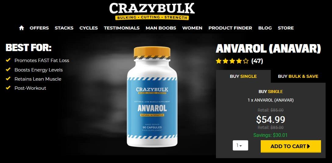 CrazyBulk Anvarol Pricing