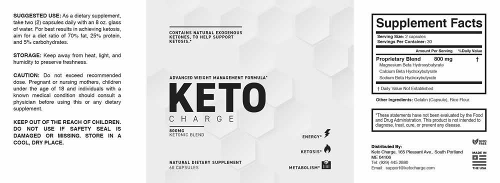 KetoCharge Ingredients