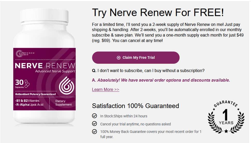 Nerve Renew Coupon