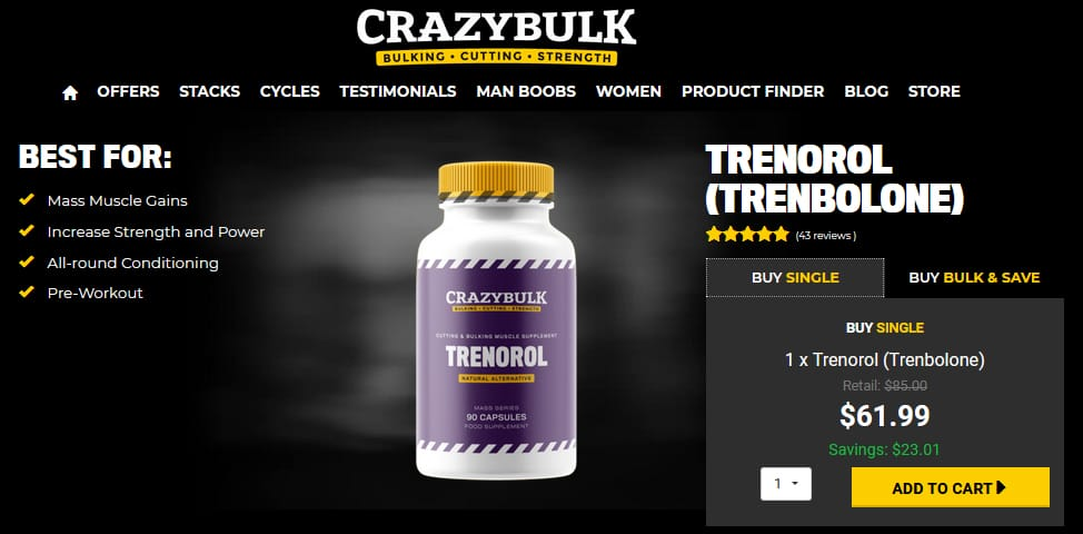 Trenorol Pricing