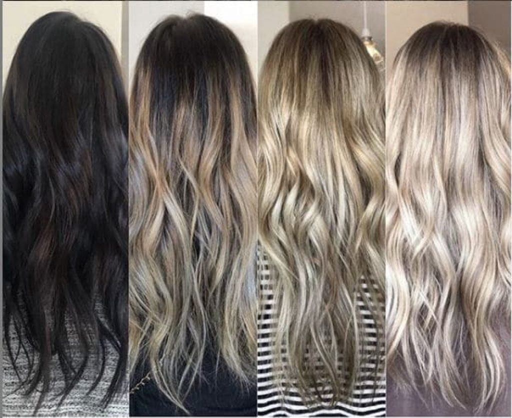 Healthy Bleached hairs